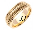 Yellow Gold Hand Braided Wedding Band 7mm YG-560
