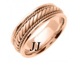 Rose Gold Hand Braided Wedding Band 7mm RG-560