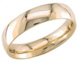 5mm Plain Yellow Gold Wedding Band PLNYB-5mm