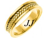 Yellow Gold Hand Braided Wedding Band 6mm YG-651