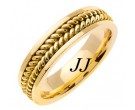 Yellow Gold Hand Braided Wedding Band 6mm YG-652