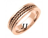 Rose Gold Hand Braided Wedding Band 6mm RG-652