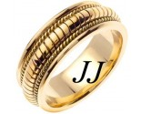 Yellow Gold Snake Braided Wedding Band 8mm YG-654