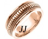 Rose Gold Snake Braided Wedding Band 8mm RG-654