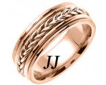 Rose Gold Hand Braided Wedding Band 8mm RG-655