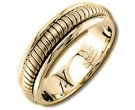 Yellow Gold Snake Braided Wedding Band 6mm YG-656