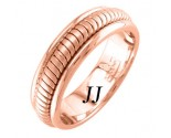 Rose Gold Snake Braided Wedding Band 6mm RG-656