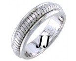 White Gold Snake Braided Wedding Band 6mm WG-656