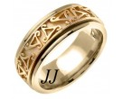 Yellow Gold Celtic Wedding Band 8mm YG-657
