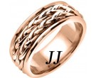 Rose Gold Inter-Braided Wedding Band 8mm RG-659