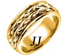 Yellow Gold Inter-Braided Wedding Band 8mm YG-659