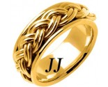 Yellow Gold Hand Braided Wedding Band 10mm YG-661