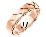 Rose Gold Hand Braided Wedding Band 5mm RG-662