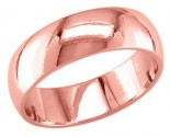6mm Plain Rose Gold Light Wedding Band PLNLRB-6mm