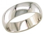 6mm Plain White Gold Wedding Band PLNWB-6mm