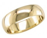 6mm Plain Yellow Gold Light Wedding Band PLNLYB-6mm