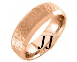 Rose Gold Hammered Wedding Band 6.5mm RG-751