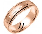 Rose Gold Link Wedding Band 6.5mm RG-754