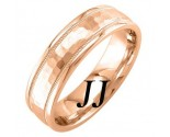 Rose Gold Hammered Wedding Band 6mm RG-756