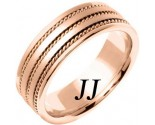 Rose Gold Twin Blade Wedding Band 7mm RG-761