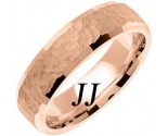 Rose Gold Hammered Wedding Band 6mm RG-768