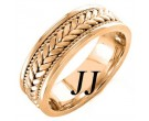 Rose Gold Hand Braided Wedding Band 7mm RG-851