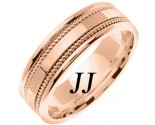 Rose Gold Single Blade Wedding Band 7mm RG-854