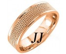Rose Gold 5-Row Braid Wedding Band 6mm RG-855