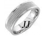 White Gold 5-Row Braid Wedding Band 6mm WG-855