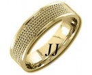 Yellow Gold 5-Row Braid Wedding Band 6mm YG-855