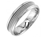 White Gold 3-Row Rope Wedding Band 6mm WG-856