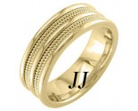 Yellow Gold Quad Braided Wedding Band 7.5mm YG-859