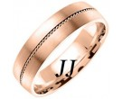 Rose Gold Sandblasted Wedding Band 6mm RG-860