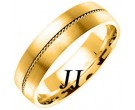 Yellow Gold Sandblasted Wedding Band 6mm YG-860