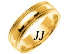 Yellow Gold Single Blade Wedding Band 7mm YG-867