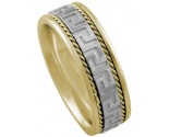 Two Tone Gold Designer Wedding Band 8mm TT-870A