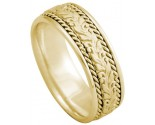 Yellow Gold Designer Wedding Band 8mm YG-874