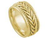 Yellow Gold Hand Braided Wedding Band 8mm YG-878