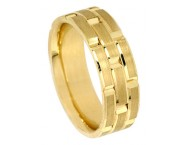 Yellow Gold Designer Wedding Band 8.5mm YG-880