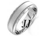 White Gold Sandblasted Wedding Band 7mm WG-954