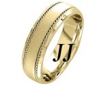 Yellow Gold Sandblasted Wedding Band 7mm YG-954