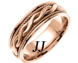 Rose Gold Snake Twist Wedding Band 8mm RG-956