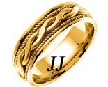 Yellow Gold Snake Twist Wedding Band 8mm YG-956