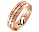 Rose Gold Single Blade Wedding Band 6mm RG-957