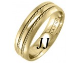 Yellow Gold Single Blade Wedding Band 6mm YG-957