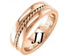 Rose Gold Single Twist Wedding Band 7mm RG-958