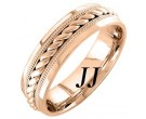 Rose Gold Rope Twisted Wedding Band 6mm RG-959