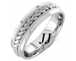 White Gold Rope Twisted Wedding Band 6mm WG-959