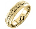 Yellow Gold Rope Twisted Wedding Band 6mm YG-959