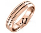 Rose Gold Twin Braided Wedding Band 6mm RG-962